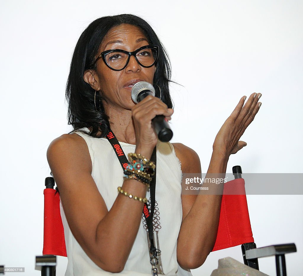 Producer Robi Reed speaks during a Q and A for the film 'Shame' on day 4 of the 2015 Urbanworld Film Festival at AMC Empire 25 Theater on September...