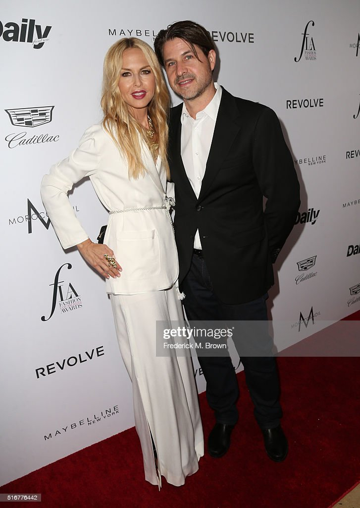 Producer Rodger Berman (R) and designer Rachel Zoe attend the Daily Front Row 'Fashion Los Angeles Awards' at Sunset Tower Hotel on March 20, 2016 in West Hollywood, California.
