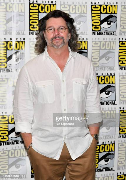 Producer Ronald D Moore at the 'Battlestar Galactica' Reunion press line during ComicCon International 2017 at Hilton Bayfront on July 20 2017 in San...