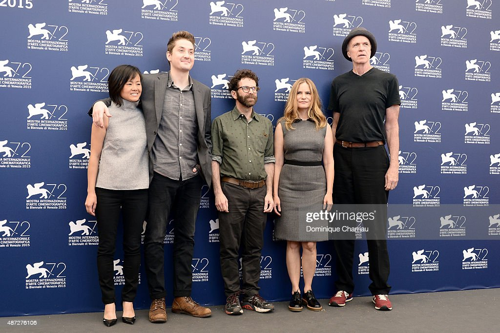 Producer Rosa Tran, directors Duke Johnson, Charlie Kaufman, actors Jennifer Jason Leigh and Tom Noonan attend a photocall for 'Anomalisa' during the 72nd Venice Film Festival at Palazzo del Casino on September 8, 2015 in Venice, Italy.