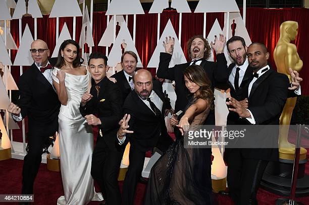 Producer Roy Conli actress Genesis Rodriguez actor Ryan Potter director Don Hall actor Scott Adsit actress Jamie Chung actor TJ Miller and director...