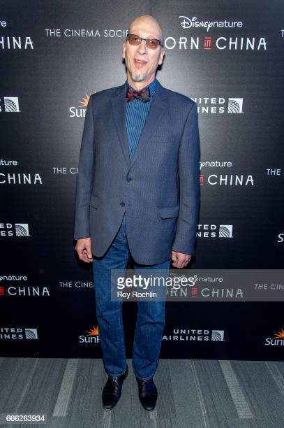 Producer Roy Conli attends Disneynature with the Cinema Society host the premiere of 'Born in China' at Landmark Sunshine Cinema on April 8 2017 in...