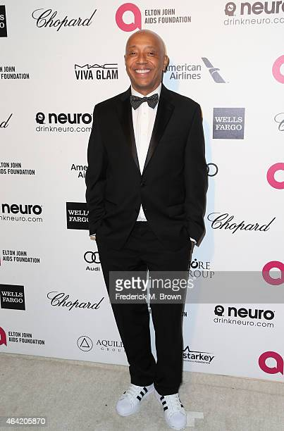 Producer Russell Simmons attends the 23rd Annual Elton John AIDS Foundation's Oscar Viewing Party on February 22 2015 in West Hollywood California
