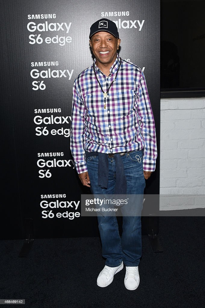 Producer Russell Simmons attends the Samsung Galaxy S 6 edge launch on April 2, 2015 in Los Angeles, California.