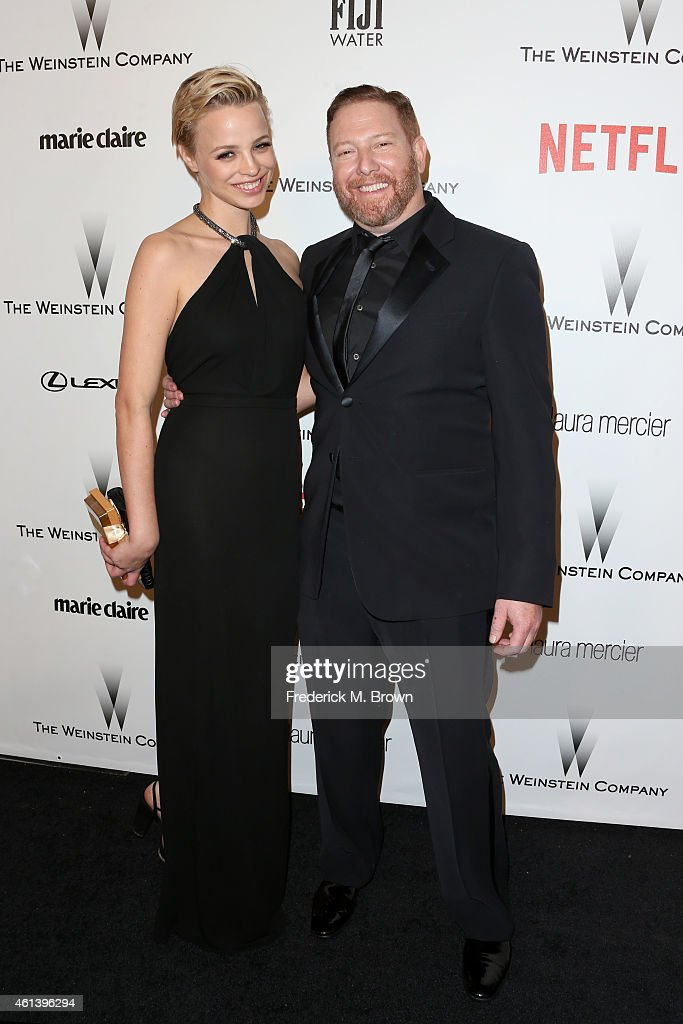 Producer Ryan Kavanaugh (R) and guest attend the 2015 Weinstein Company and Netflix Golden Globes After Party at Robinsons May Lot on January 11, 2015 in Beverly Hills, California.