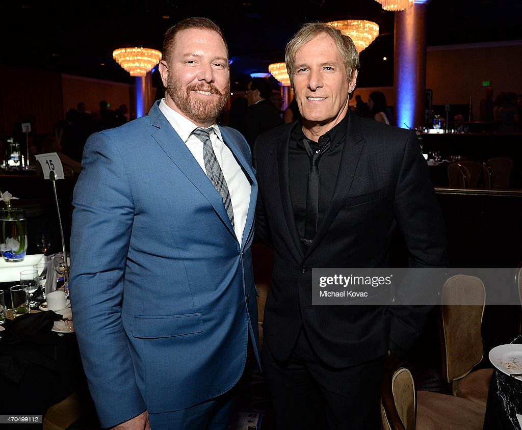 Producer Ryan Kavanaugh (L) and musician Michael Bolton attend the Anti-Defamation League's 2015 Entertainment Industry Dinner at The Beverly Hilton Hotel on April 20, 2015 in Beverly Hills, California.