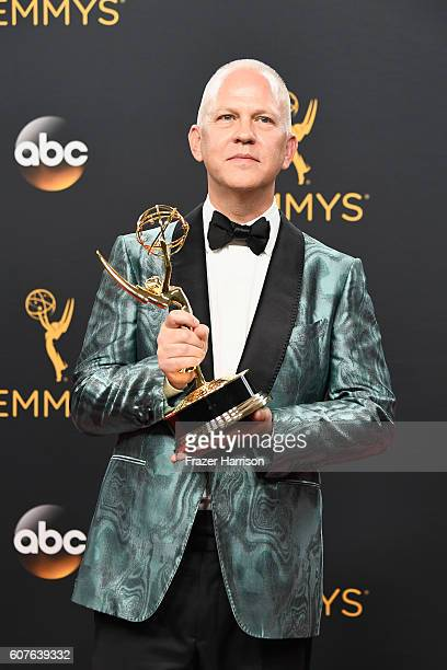 "Producer Ryan Murphy winner of Best MiniSeries or Movie for ""The People v O J Simpson American Crime Story"" poses in the press room during the 68th..."