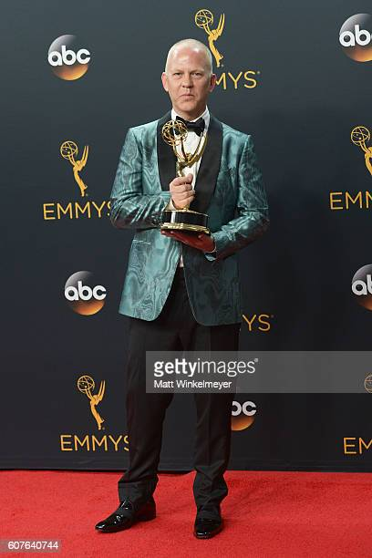 Producer Ryan Murphy winner of the Outstanding Limited Series award for 'The People vs OJ Simpson American Crime Story' poses in the press room...