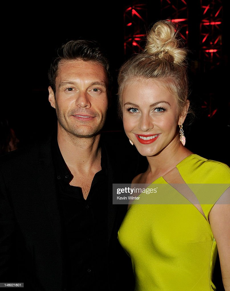 Producer <a gi-track='captionPersonalityLinkClicked' href=/galleries/search?phrase=Ryan+Seacrest&family=editorial&specificpeople=201694 ng-click='$event.stopPropagation()'>Ryan Seacrest</a> (L) and actress <a gi-track='captionPersonalityLinkClicked' href=/galleries/search?phrase=Julianne+Hough&family=editorial&specificpeople=4237560 ng-click='$event.stopPropagation()'>Julianne Hough</a> arrive at the after party for the premiere of Warner Bros. Pictures' 'Rock Of Ages' at Hollywood and Highland on June 8, 2012 in Los Angeles, California.