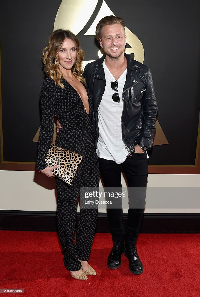 Producer Ryan Tedder (R) and guest attend The 58th GRAMMY Awards at Staples Center on February 15, 2016 in Los Angeles, California.