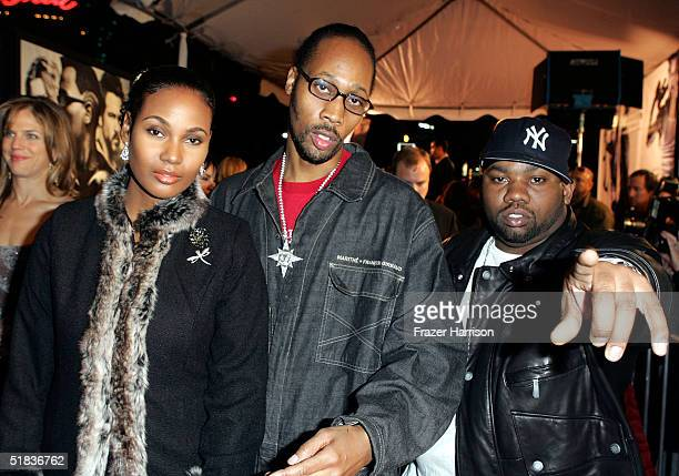 Producer Rza rapper Raekwon 'The Chef' and guest attend the Los Angeles Premiere of the movie 'Blade Trinity' at the Grauman's Chinese Theater on...