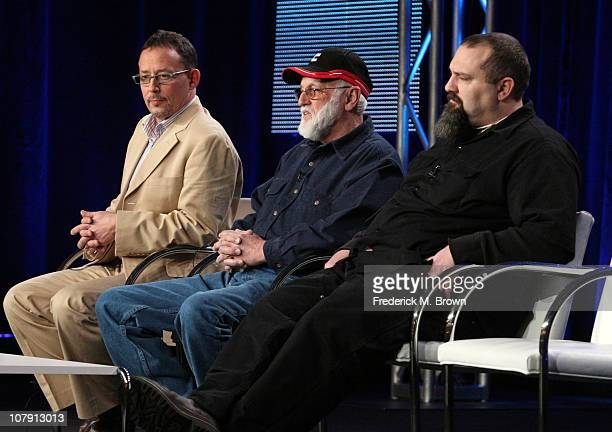 Producer Sam Maynard Jack Hoffman and Todd Hoffman speak onstage during the 'Gold Rush Alaska' panel at the Discovery Channel portion of the 2011...