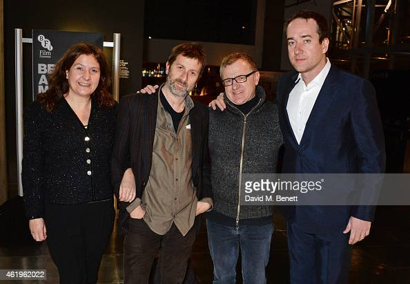 Producer Sam Taylor director Ben Hopkins producer Mike Downey and Matthew Macfadyen attend a screening of 'Lost In Karastan' during the 4th annual...
