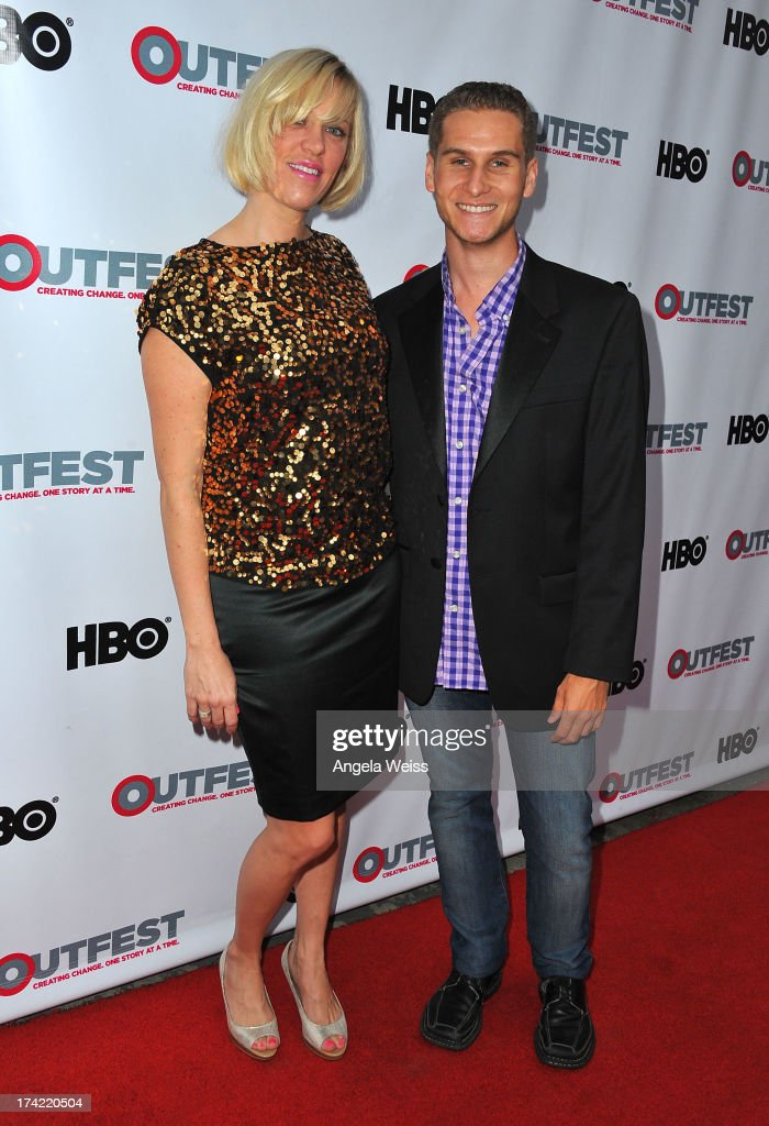 Producer Samantha Kern and Brandon Cohen arrive at the 2013 Outfest Film Festival closing night gala of 'G.B.F.' at the Ford Theatre on July 21, 2013 in Hollywood, California.