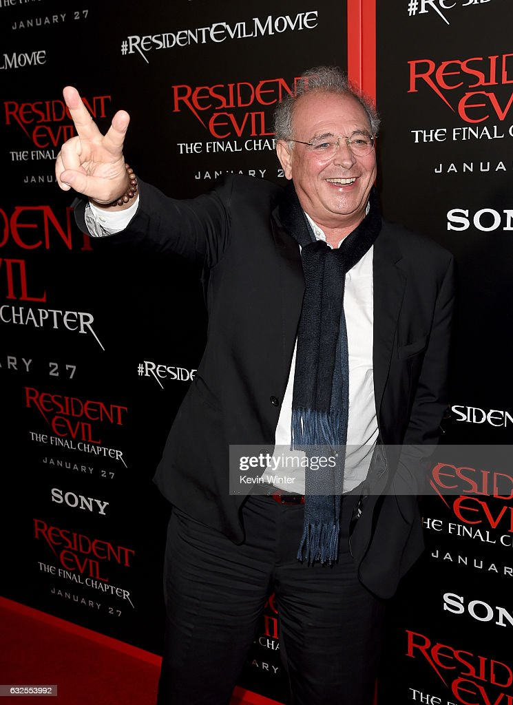 Producer Samuel Hadida arrives at the premiere of Sony Pictures Releasing's 'Resident Evil: The Final Chapter' at the Regal L.A. Live Theatres on January 23, 2017 in Los Angeles, California.
