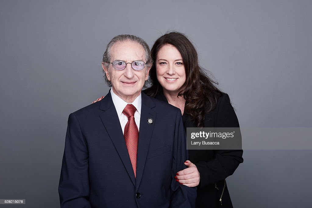 Producer Sander Jacobs and (L) Publicist Amy Jacobs pose for a portrait at the 2016 Tony Awards Meet The Nominees Press Reception on May 4, 2016 in New York City.