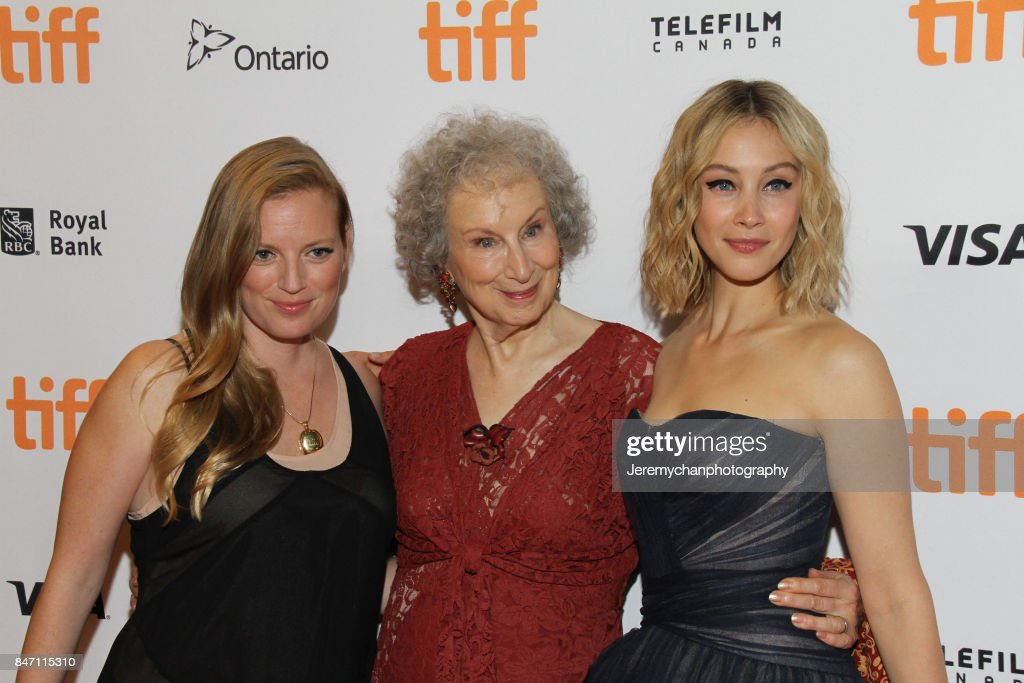 Producer Sarah Polley, author Margaret Atwood, and actor Sarah Gadon attend the 'Alias Grace' Premiere held at Winter Garden Theatre during the 2017 Toronto International Film Festival on September 14, 2017 in Toronto, Canada.