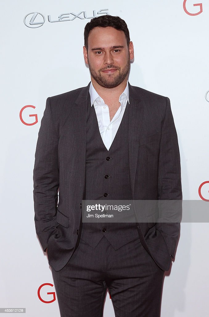 Producer Scooter Braun attends 'The Giver' premiere at Ziegfeld Theater on August 11 2014 in New York City