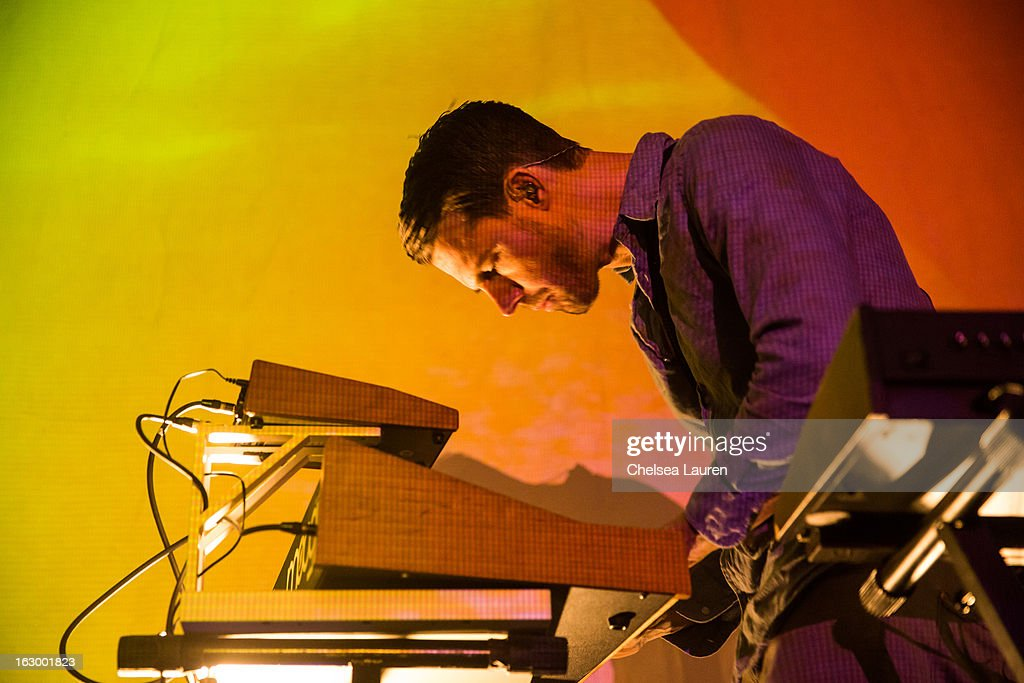 Producer Scott Hansen aka Tycho performs at Hollywood Palladium on March 2, 2013 in Hollywood, California.