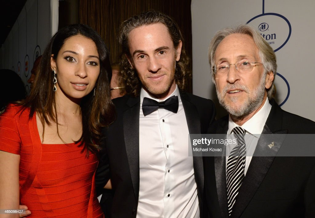Producer Scott Jacoby (C) and Recording Academy President/CEO <a gi-track='captionPersonalityLinkClicked' href=/galleries/search?phrase=Neil+Portnow&family=editorial&specificpeople=208909 ng-click='$event.stopPropagation()'>Neil Portnow</a> (R) attend the 56th annual GRAMMY Awards Pre-GRAMMY Gala and Salute to Industry Icons honoring Lucian Grainge at The Beverly Hilton on January 25, 2014 in Los Angeles, California.