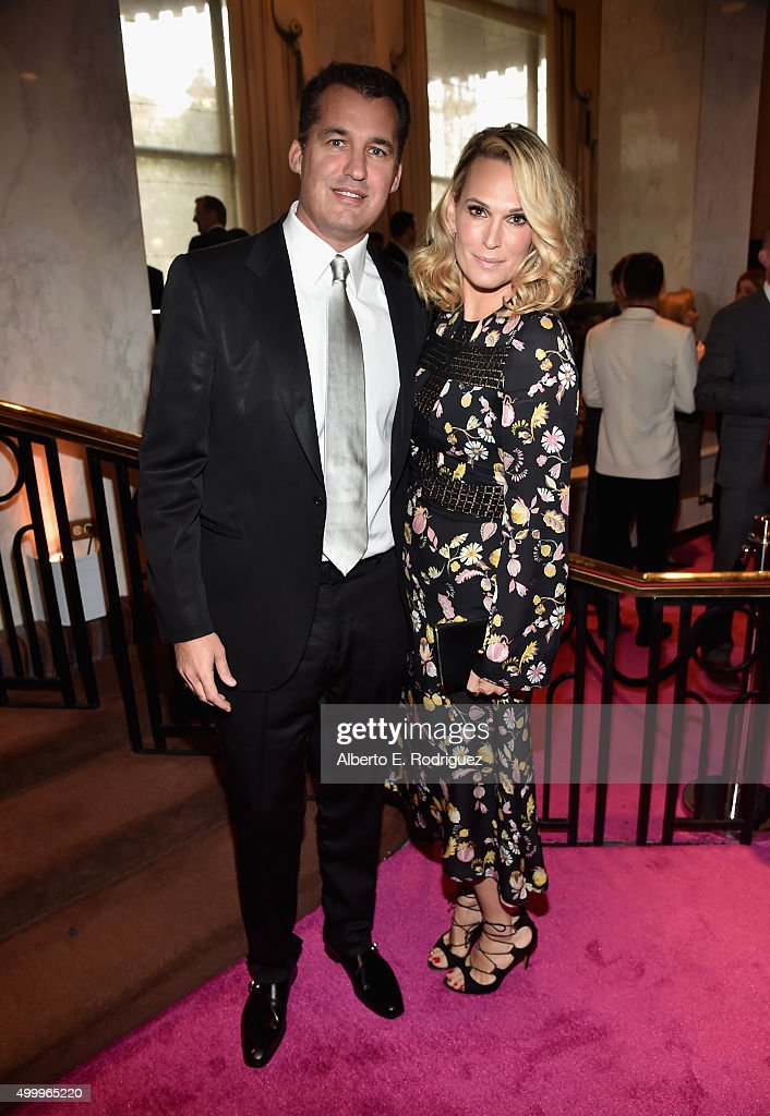 Producer Scott Stuber and actress Molly Sims attend the 2015 March Of Dimes Celebration Of Babies at the Beverly Wilshire Four Seasons Hotel on...