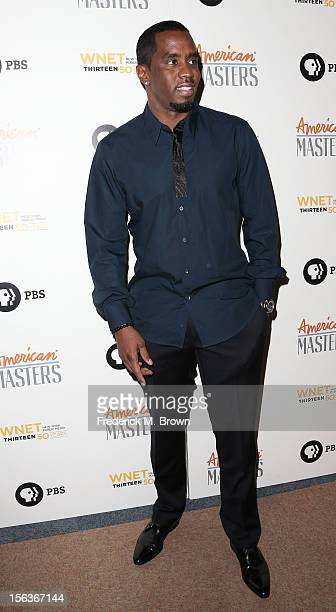 Producer Sean Combs attends the Premiere Of 'American Masters Inventing David Geffen' at The Writers Guild of America on November 13 2012 in Beverly...