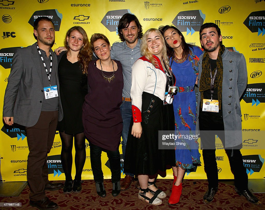 Producer Sergi Moreno, writer Clara Roquet Autonell, producer Jana Diaz Juhl, writer/director Carlos Marques-Marcet, cinematographer Dagmar Weaver-Madsen, actress <a gi-track='captionPersonalityLinkClicked' href=/galleries/search?phrase=Natalia+Tena&family=editorial&specificpeople=4356716 ng-click='$event.stopPropagation()'>Natalia Tena</a> and producer Pau Brunet attend the '10,000KM (Long Distance)' Photo Op and Q&A during the 2014 SXSW Music, Film + Interactive Festival at Alamo Ritz on March 10, 2014 in Austin, Texas.