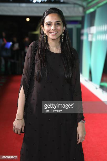 Producer Shareen Mantri Kedia attends the World Premiere of 'Beyond The Clouds' during the 61st BFI London Film Festival on October 13 2017 in London...