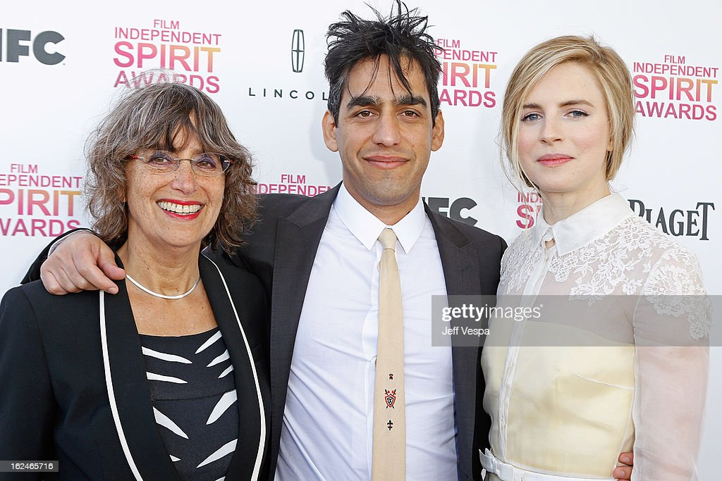 Producer Shelley Surpin, Director Zal Batmanglij, and actress Brit Marling attends the 2013 Film Independent Spirit Awards at Santa Monica Beach on February 23, 2013 in Santa Monica, California.