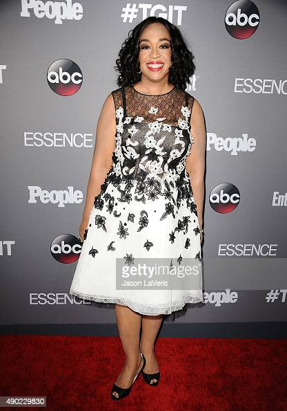 Producer Shonda Rhimes attends ABC's TGIT premiere event on September 26 2015 in West Hollywood California