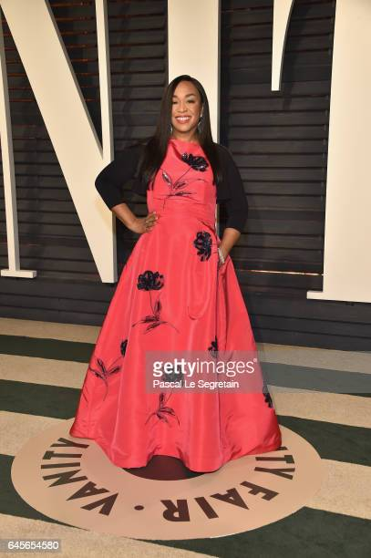 Producer Shonda Rhimes attends the 2017 Vanity Fair Oscar Party hosted by Graydon Carter at Wallis Annenberg Center for the Performing Arts on...
