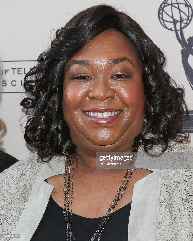 Producer <a gi-track='captionPersonalityLinkClicked' href=/galleries/search?phrase=Shonda+Rhimes&family=editorial&specificpeople=572007 ng-click='$event.stopPropagation()'>Shonda Rhimes</a> attends the Academy Of Television Arts & Sciences presentation of 'Welcome To ShondaLand: An Evening With <a gi-track='captionPersonalityLinkClicked' href=/galleries/search?phrase=Shonda+Rhimes&family=editorial&specificpeople=572007 ng-click='$event.stopPropagation()'>Shonda Rhimes</a> & Friends' at the Leonard H. Goldenson Theatre on April 2, 2012 in North Hollywood, California.