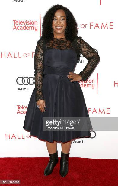 Producer Shonda Rhimes attends the Television Academy's 24th Hall of Fame Ceremony at the Saban Media Center on November 15 2017 in North Hollywood...