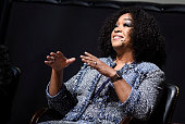 Producer Shonda Rhimes speaks during the 'Scandalous' event hosted by the Smithsonian Associates with Shonda Rhimes and the cast of ABC's Scandals at...