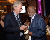 Producer Sidney Sheinberg and producer Clarence Avant attend Simon Wiesenthal Center's 2014 Tribute Dinner at Regent Beverly Wilshire Hotel on March...