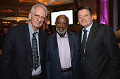 Producer Sidney Sheinberg producer Clarence Avant and Netflix Chief Content Officer Ted Sarandos attend Simon Wiesenthal Center's 2014 Tribute Dinner...