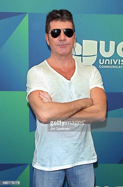 Producer Simon Cowell attends the 2014 Univision Upfront at Gotham Hall on May 13 2014 in New York City