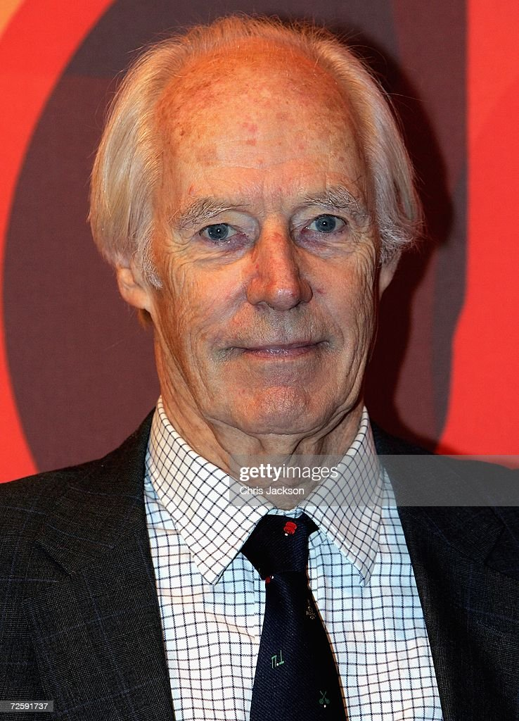 Producer Sir George Martin poses at the Launch of the New Beatles Album, 'Love' at Abbey Road Studios on November 17, 2006 in London, England