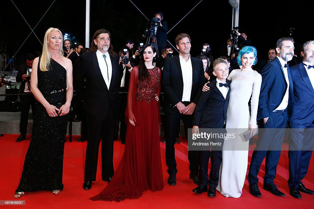 Producer Sisse Graum Jorgensen, director Kristian Levring, Eva Green, screenwriter Anders Thomas Jensen, actor Toke Lars Bjarke, singer Nanna Oland Fabricius aka Oh Land and Jeffrey Dean Morgan attend the 'The Salvation' premiere during the 67th Annual Cannes Film Festival on May 17, 2014 in Cannes, France.