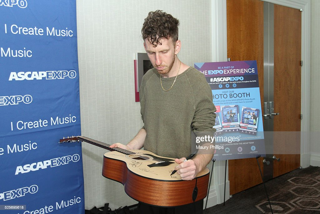 Producer, songwriter Ariel Rechtshaid signs the #StandWithSongwriters guitar during the 2016 ASCAP 'I Create Music' EXPO on April 28, 2016 in Los Angeles, California.