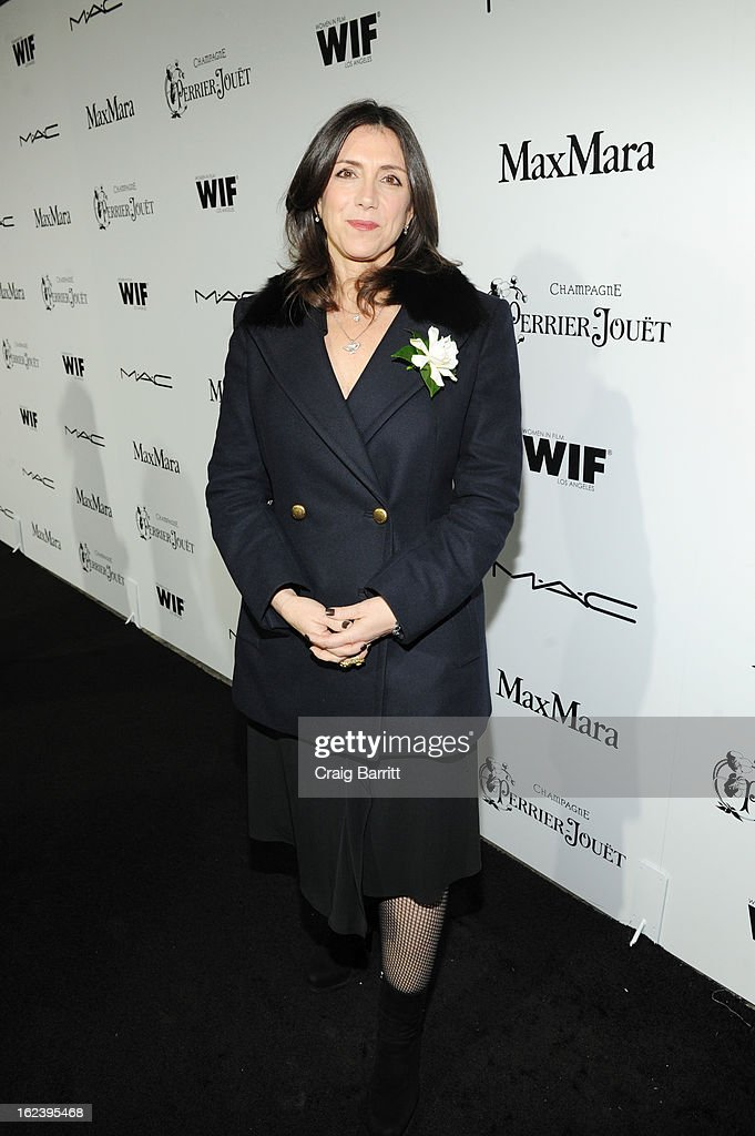 Producer <a gi-track='captionPersonalityLinkClicked' href=/galleries/search?phrase=Stacey+Sher&family=editorial&specificpeople=2082596 ng-click='$event.stopPropagation()'>Stacey Sher</a> attends the 6th Annual Women In Film Pre-Oscar Party hosted by Perrier Jouet, MAC Cosmetics and MaxMara at Fig & Olive on February 22, 2013 in Los Angeles, California.