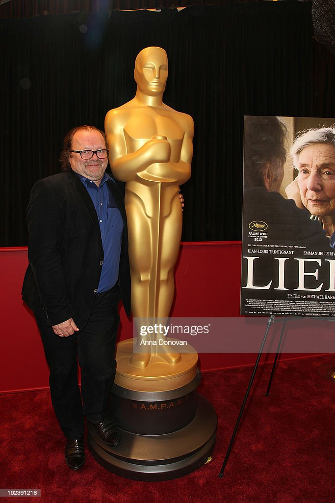 Producer <a gi-track='captionPersonalityLinkClicked' href=/galleries/search?phrase=Stefan+Arndt&family=editorial&specificpeople=2106636 ng-click='$event.stopPropagation()'>Stefan Arndt</a> of the film 'Amour' attends the 85th annual Academy Awards Foreign Language Film Award photo-op held at the Dolby Theatre on February 22, 2013 in Hollywood, California.