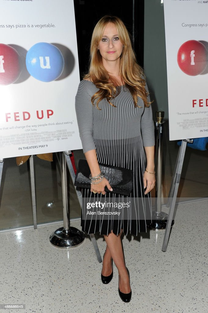 Producer Stephanie Soechtig arrives at the Los Angeles premiere of 'Fed Up' at Pacfic Design Center on May 8, 2014 in West Hollywood, California.