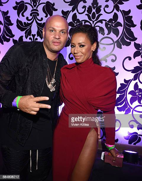 Producer Stephen Belafonte and recording artist Mel B attend the 2016 MAXIM Hot 100 Party at the Hollywood Palladium on July 30 2016 in Los Angeles...