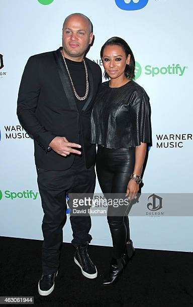 Producer Stephen Belafonte and recording artist Melanie Brown attend the Warner Music Group annual Grammy celebration at Chateau Marmont on February...