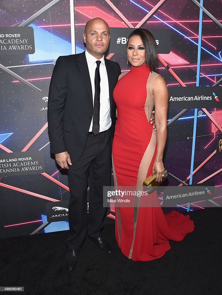 Producer Stephen Belafonte (L) and recording artist/TV personality Mel B attend the 2015 Jaguar Land Rover British Academy Britannia Awards presented by American Airlines at The Beverly Hilton Hotel on October 30, 2015 in Beverly Hills, California.