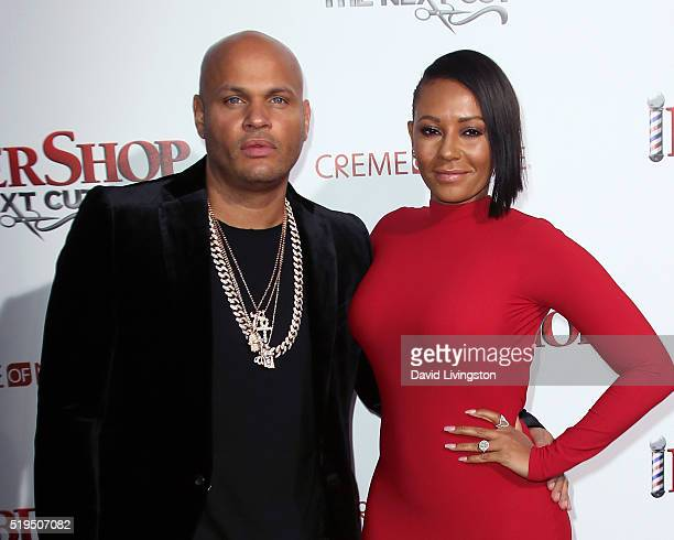 Producer Stephen Belafonte and wife recording artist Mel B attend the premiere of New Line Cinema's 'Barbershop The Next Cut' at the TCL Chinese...