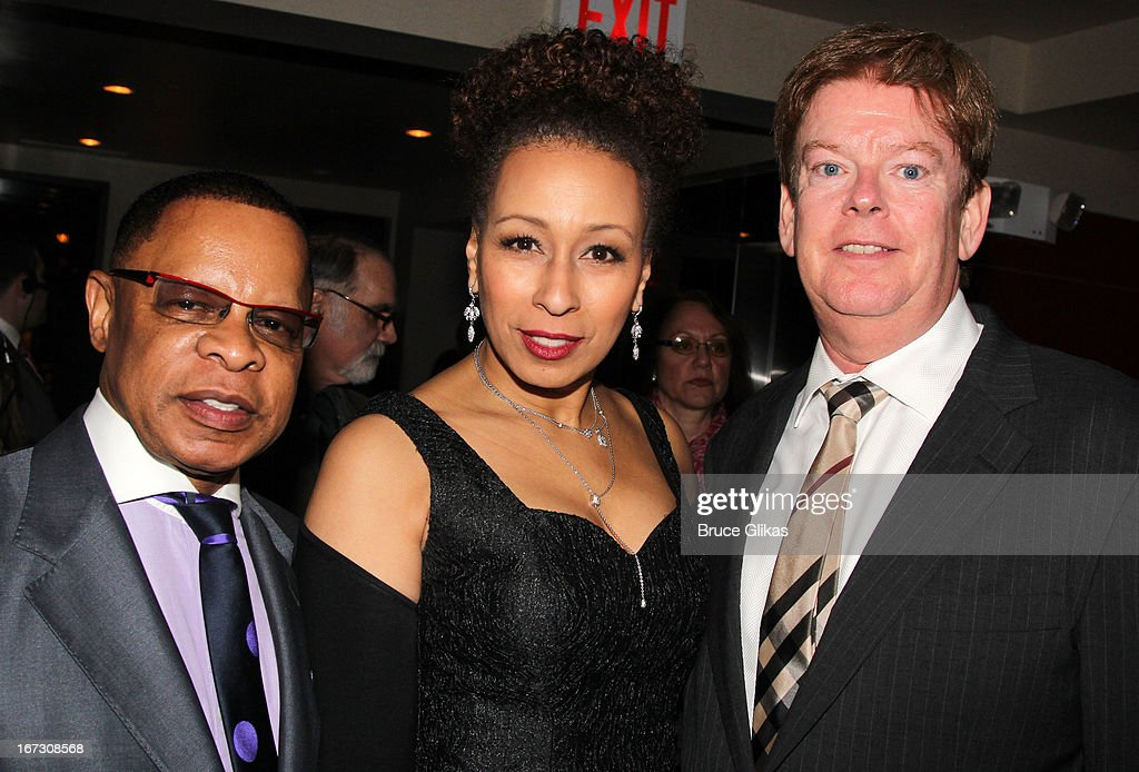 Producer Stephen Byrd, <a gi-track='captionPersonalityLinkClicked' href=/galleries/search?phrase=Tamara+Tunie&family=editorial&specificpeople=213326 ng-click='$event.stopPropagation()'>Tamara Tunie</a> and Producer Kenneth Teaton attend the after party for the Broadway opening night of 'The Trip To Bountiful' at The Copacabana on April 23, 2013 in New York City.