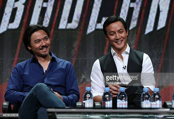 Producer Stephen Fung and actor Daniel Wu attend the AMC TCA panel at The Beverly Hilton Hotel on July 31 2015 in Beverly Hills California