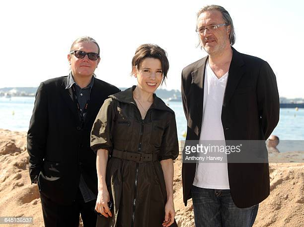 Producer Stephen Woolley Actress Sally Hawkins and Director Nigel Cole attend the 'We Want Sex' Photocall at the Martini Terrazzo beach during the...